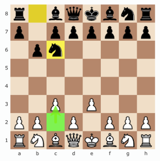Your opponent moves pawn to h,6.