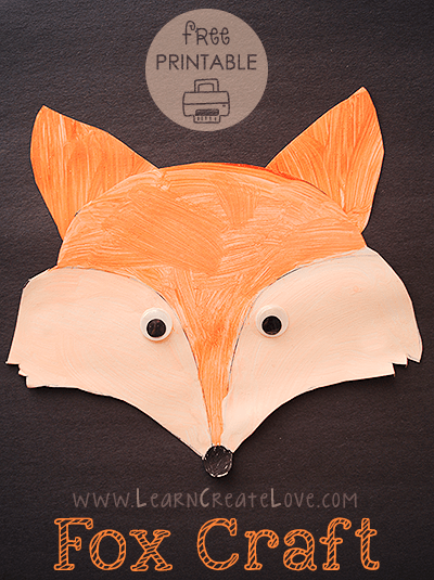 Turn wood slices into gorgeous fox ornaments as per the inspirtaion edit. Printable Fox Craft Learncreatelove