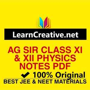 AG Sir Physics Original Handwritten Notes PDF