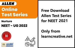 Allen Test Series for NEET 2021 PDF Free Download - Major + Minor