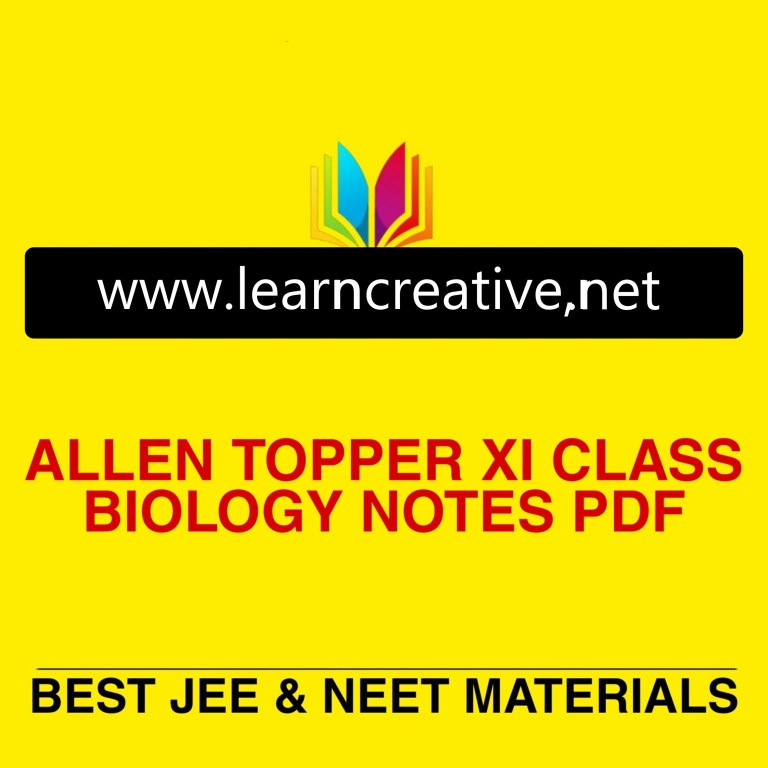 Allen topper handwritten notes biology