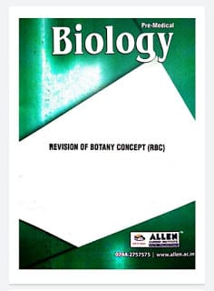 Download Biology NCERT based objective question by ALLEN kota classes