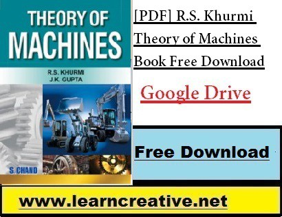 [PDF] R.S. Khurmi Theory of Machines Book Free Download