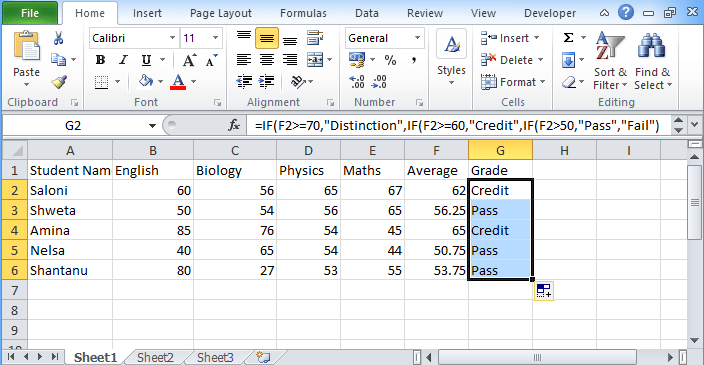 Excel Logical Test Using Multiple If Statements [OR/AND] 2