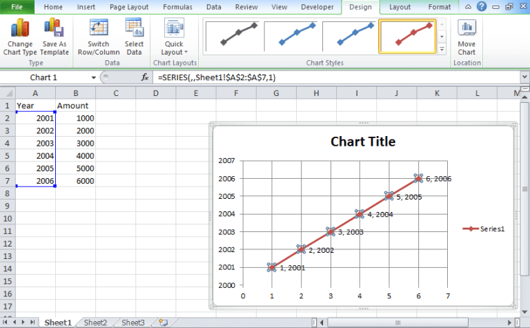 how to create a regression line in excel