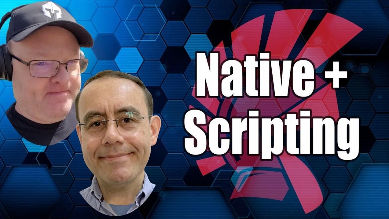 script e código nativo