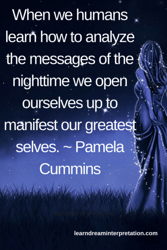 Learn how to analyze dream messages with Pamela Cummins