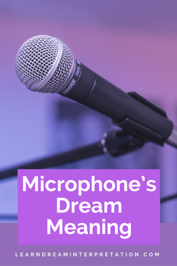 Microphone's Dream Meaning