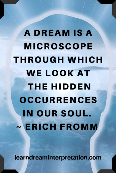 Dream Interpretation Quote from Erich Fromm