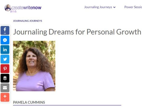 Journaling Dreams for Personal Growth with Pamela Cummins