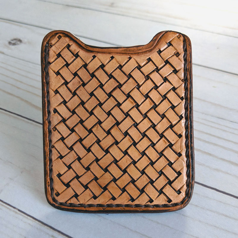 Basket Weave Wallet Money Clip