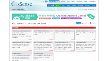 ClixSense, an amazing site for money earning
