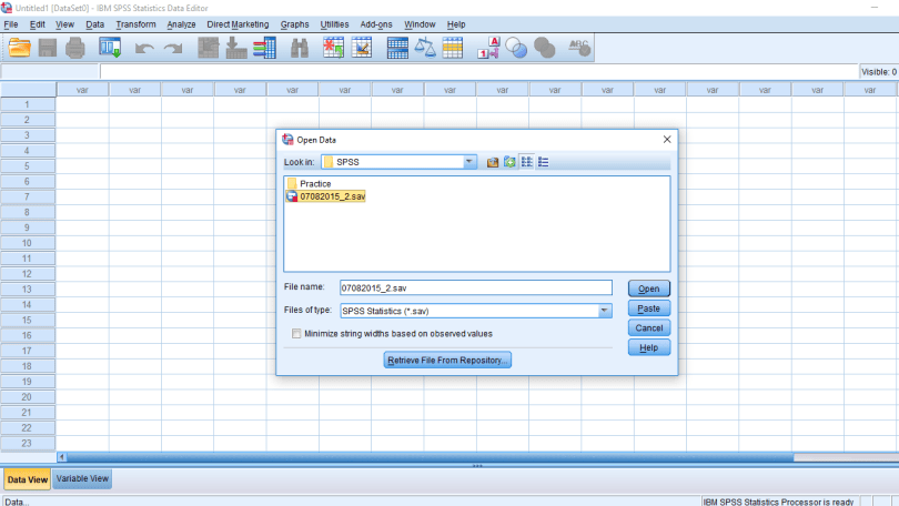frequently used commands in SPSS
