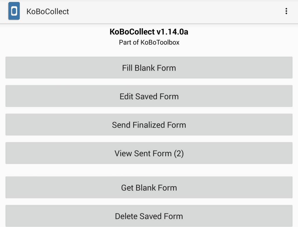 KoBo data collection using KoBoCollect with the help of KoBoToolbox