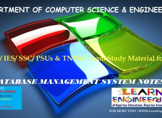 [PDF] GATE Exam Study Material for CSE | IES/ SSC/ PSUs & TNPSC Exam Study Material for CSE | Database Management System Notes | By Made Easy Hand Written Notes Free Download