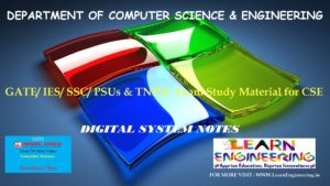 [PDF] GATE Exam Study Material for CSE | IES/ SSC/ PSUs & TNPSC Exam Study Material for CSE | Digital System Notes | By Made Easy Hand Written Notes Free Download