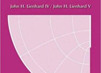 A Heat Transfer Textbook, 3rd edition By John H. Lienhard IV and John H. Lienhard V