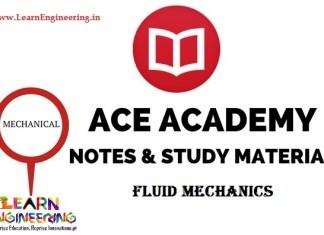 Ace Academy Fluid Mechanics Handwritten Notes
