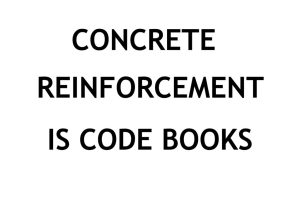 Civil Engineering IS (Indian Standards) Code books collection for Concrete Reinforcement