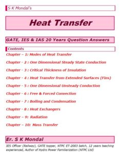 S K Mondal's Heat Transfer Notes