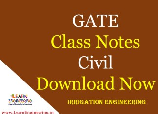 Gate Academy Irrigation Engineering Notes