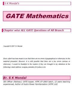 S K Mondal's Mathematics Notes