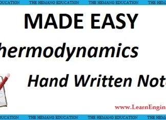 Made Easy Academy Basic Thermodynamics Handwritten Notes