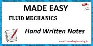 Made Easy Academy Fluid Mechanics Handwritten Notes