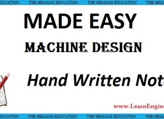 Made Easy Academy Machine Design Handwritten Notes