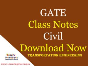 Gate Academy Transportation Engineering Notes