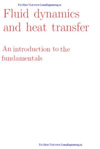 Fluid dynamics and heat transfer By Brian D. Storey