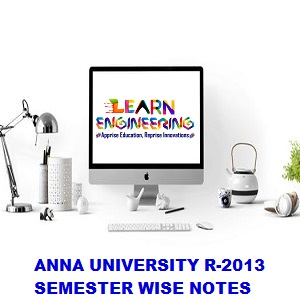 Computer Science and Engineering R2017 Semester wise Notes Collection