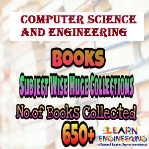 Computer Science and Engineering Huge Collection of Text and Reference Books