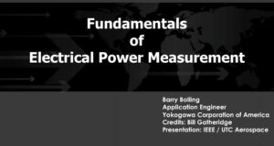 Fundamentals of Electrical Power Measurement By Barry Bolling