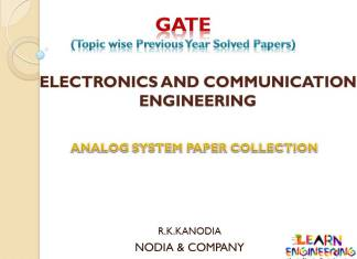 R K Kanodia Analog Electronics Notes