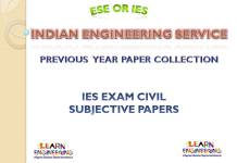 IES Civil Engineering Subjective Previous Years Papers Collection
