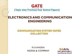 R K Kanodia Communication System Notes