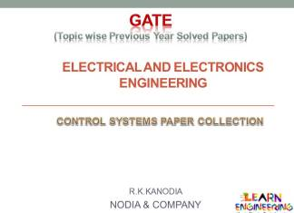 R K Kanodia Control Systems Notes