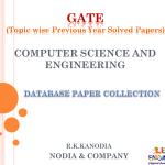 R K Kanodia Computer Database Notes