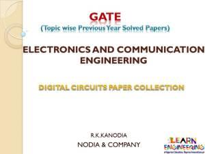 R K Kanodia Digital Circuits Notes