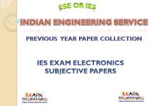 IES Electronics Engineering Subjective Previous Years Papers Collection