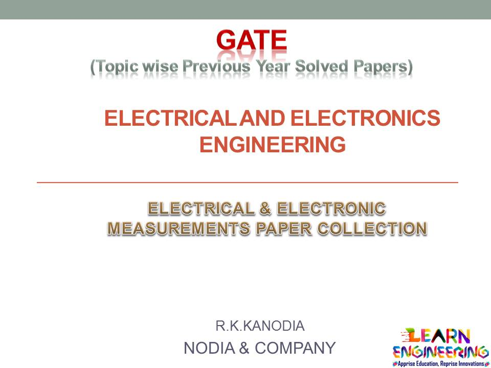 R K Kanodia Analog and Digital Electronics Notes