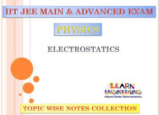 Electrostatics (Physics) Notes for IIT-JEE Exam
