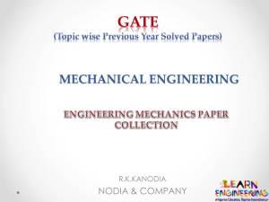 R K Kanodia Engineering Mechanics Notes