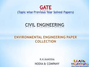 R K Kanodia Environmental Engineering Notes