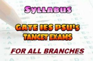 [PDF] GATE IES and TANCET Exams Syllabus