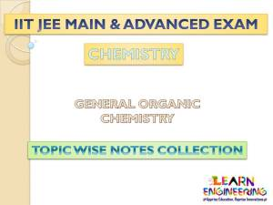 General Organic Chemistry (Chemistry) Notes for IIT-JEE Exam