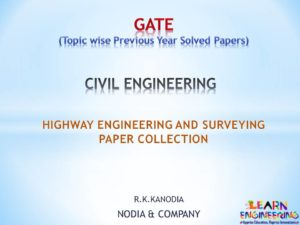 R K Kanodia Highway Engineering and Surveying Notes