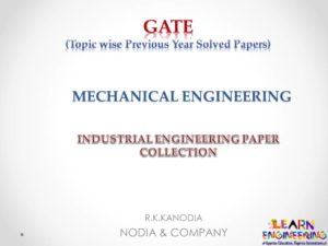 R K Kanodia Industrial Engineering Notes
