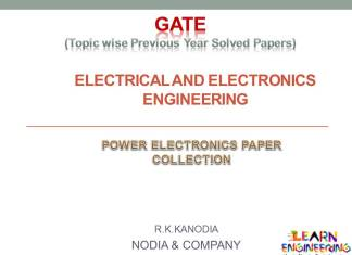 R K Kanodia Power Electronics Notes